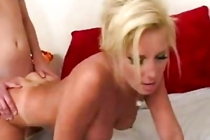 breasty blond d like to fuck receives cum on her