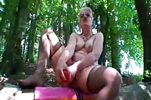 bizarre fisting and giant sex toy fucking outdoors