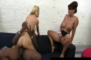 large tit hot milfs have a fun darksome cockhard