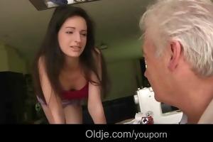 75 wrinkled grandpapa shaggs youthful sewer hotty