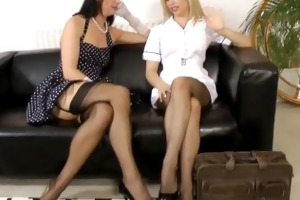 euro d like to fuck in nylons strapon screwed by