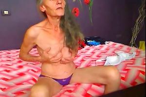 slim granny masturbation