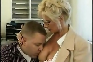 golden-haired mother i fucking in the office