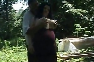 sexually excited wifes drilled in the forest