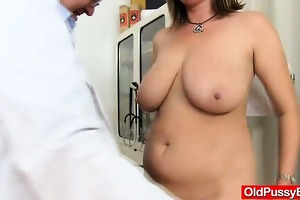 cougar gyno in addition to dildoes and team fuck