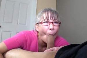slim greyhaired granny sucks my dong