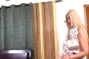 golden-haired latin chick milf copulates her