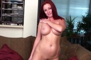 breasty redhead cougar waiting for your hard rod