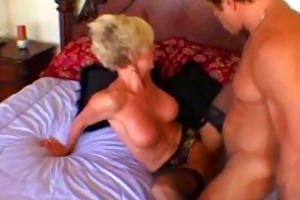 granny is masturbating whilst screwed