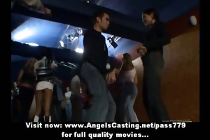 teen party with hawt juvenile cuties dancing and