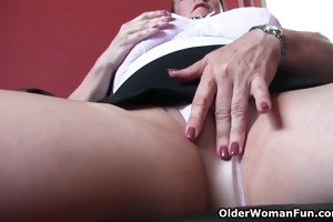 office grannies in hose need to receive off