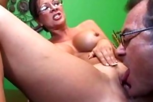 old kink teacher copulates gorgeous cougar and