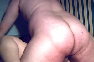 plump non-professional wife sucks and fucks with