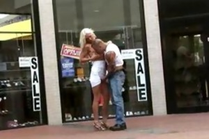 public sex d like to fuck fucked at a shoe store