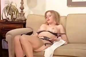 vintage curly older has a three-some and double