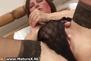 bawdy old mama in sexy underware fucking part5