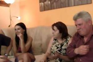 his gf is tempted by old mommy and drilled by old