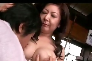 breasty aged woman getting her nipps sucked one