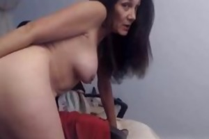 hot older dilettante honey playing with her fake