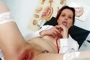 unpretty older nurse weird gyno...