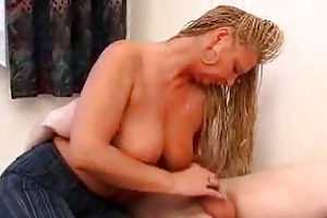 horny mom wakes up son for act