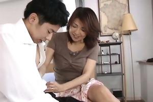 lustful japanese aged sweethearts engulfing