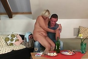 nasty oldie spreads legs for son-in-law