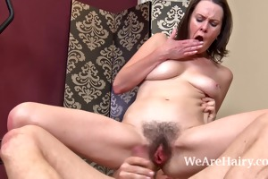 hairy honey veronica snow receives her snatch