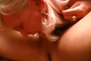 bisexual granny pair sharing jock
