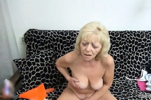 obscene golden-haired bitch acquires concupiscent