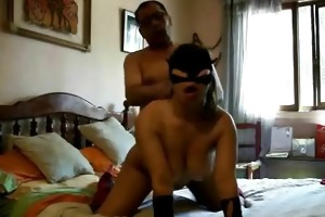 masked wife home sex and creampie