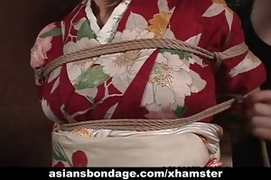 japanese d like to fuck in kimono receives bound