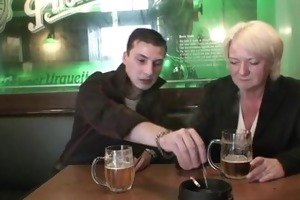 males pick up and bang boozed old grandma