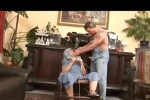 granny acquires three-some love from a younger