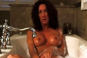 hawt hairy haired mother i masturbating in tub