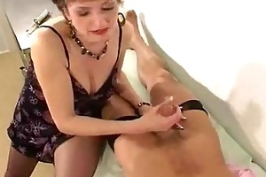 mother i in hose gives her doctor a cook jerking