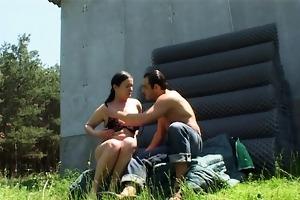 farmboy acquires tall older wench lewd
