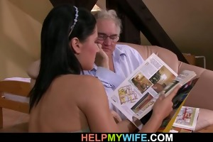 old hubby watches his pleasing wife fuck