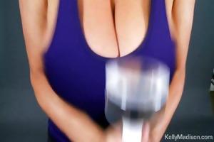kelly madison promotes the jack weight handjob