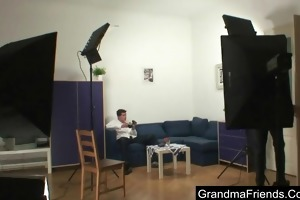 giant aged takes dongs after photosession