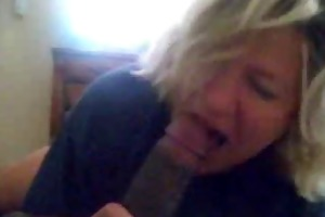 bitch blond aged knows how to engulf a black