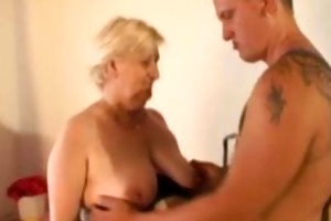 this granny is bulky and lustful
