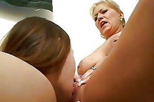 naughty lesbo learns from older lesbo
