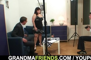 massive titted lady takes jocks