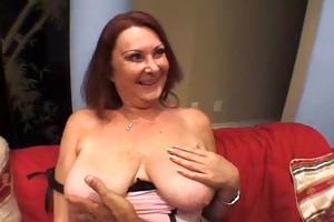 bitch granny receives drilled