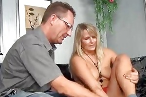 chubby older gives a bj and fucks...