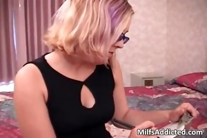 golden-haired slut with glasses knows how part6