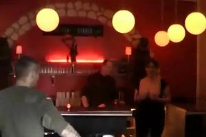 non-professional doxy fist screwed in a public bar