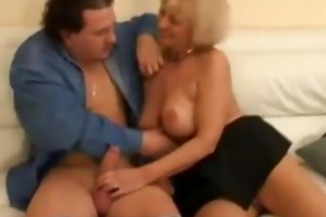 aged woman bonks a shy younger lad