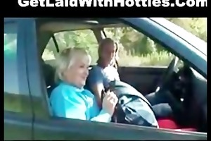 sexy granny screwed hard in the car